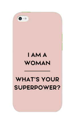 Woman Superpower Motivational Quote iPhone 5S Mobile Cover Case
