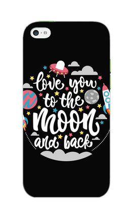 Love You Moon Space Surfing Lovers iPhone 5S Mobile Cover Case
