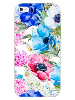 Hand Painted Floral iPhone 5 Mobile Cover Case