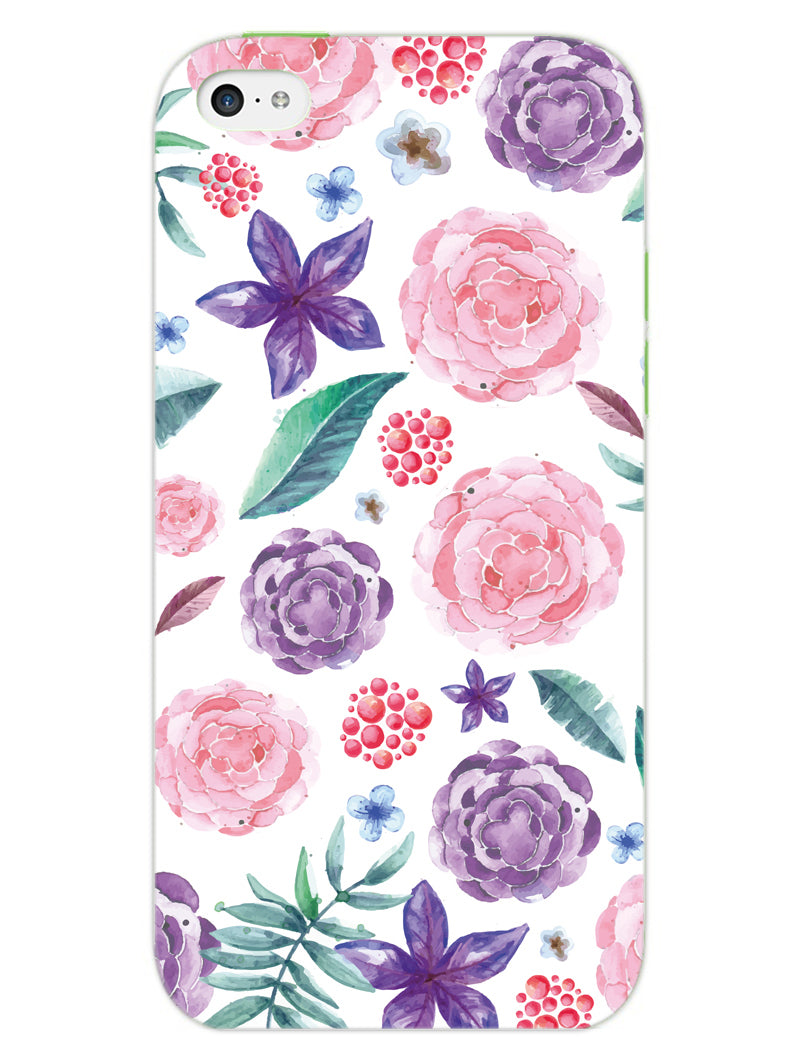 Floral Pattern iPhone 5 Mobile Cover Case - MADANYU