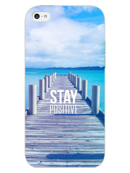 Stay Positive iPhone 5 Mobile Cover Case