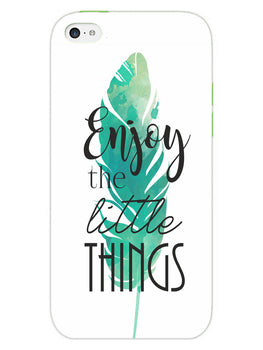 Live To Enjoy Little Things iPhone 5 Mobile Cover Case