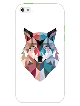 Geometric Wolf Poly Art iPhone 5 Mobile Cover Case