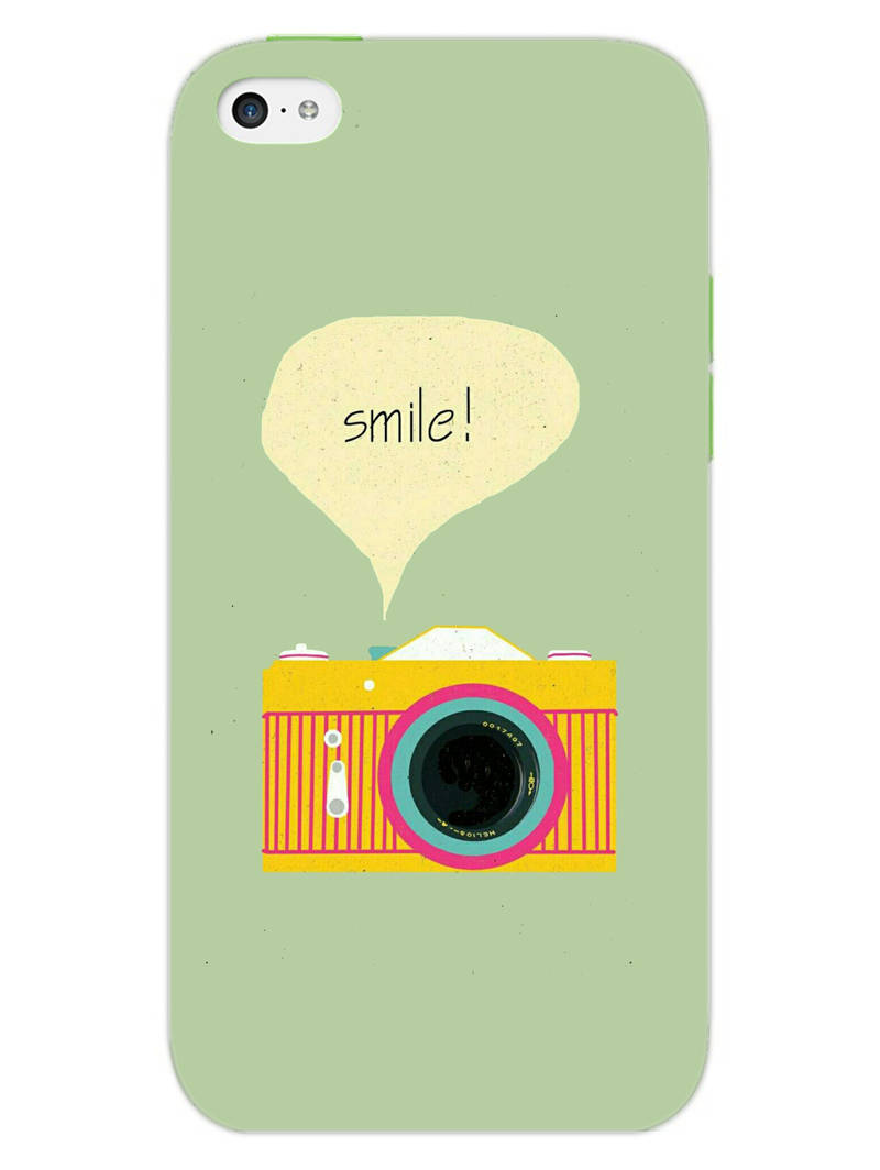 Smile Vintage Camera iPhone 5 Mobile Cover Case - MADANYU