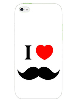 I Love Mustache Style iPhone 5 Mobile Cover Case