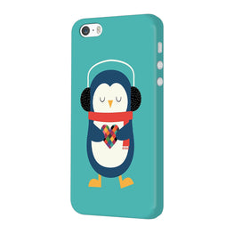 Cute Penguin Fall In Love iPhone 5 Mobile Cover Case