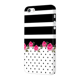 Rose Polka Stripes iPhone 5 Mobile Cover Case