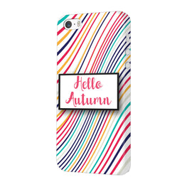 Lines Autumn For Artist iPhone 5 Mobile Cover Case
