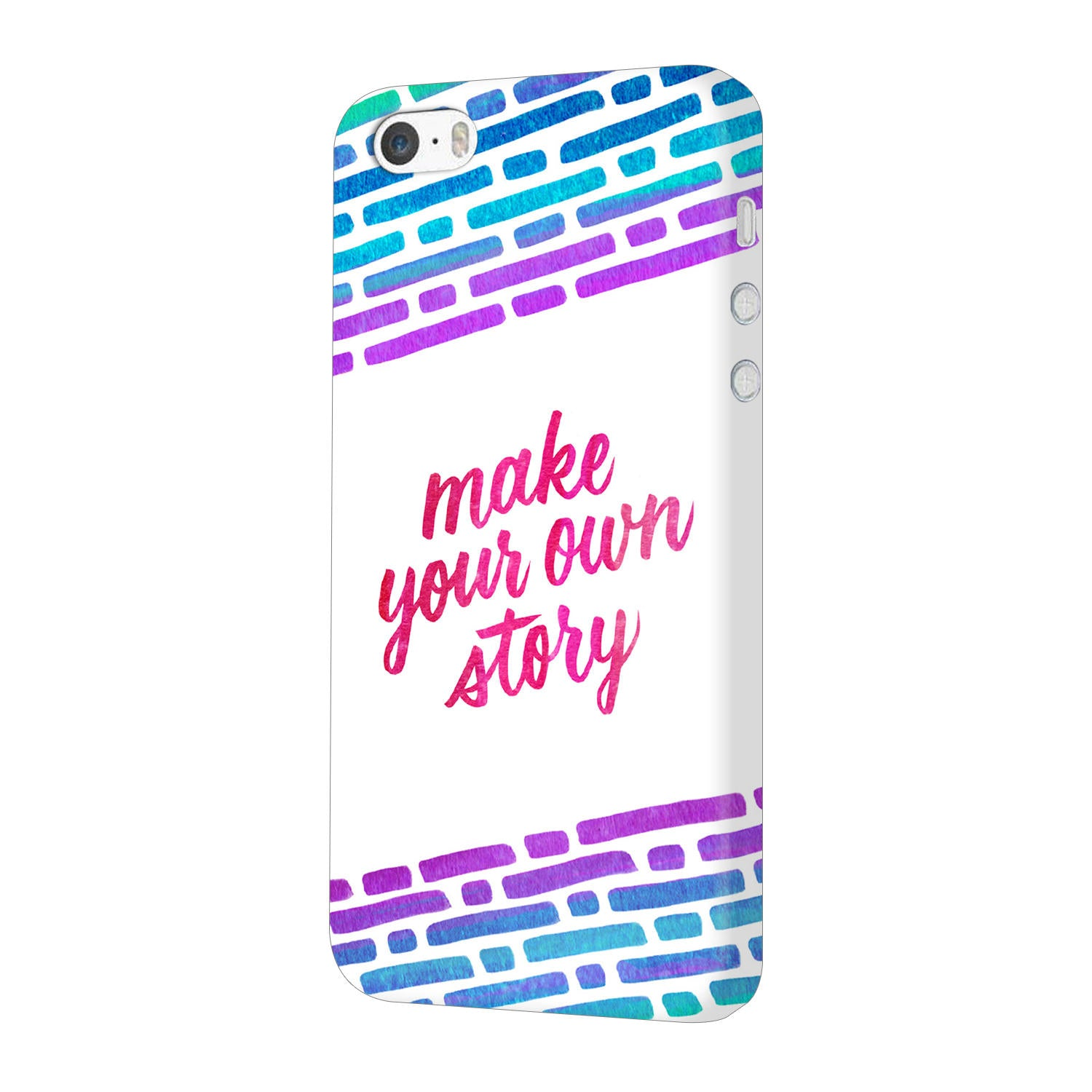 buy popular 66c57 025bb Make Your Own Story Motivational Quote iPhone 5 Mobile Cover Case