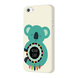 Never Stop Teddy So Girly iPhone 5 Mobile Cover Case