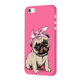 Princess Pug Dog Lovers So Girly iPhone 5 Mobile Cover Case