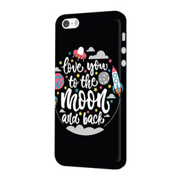 Love You Moon Space Surfing Lovers iPhone 5 Mobile Cover Case