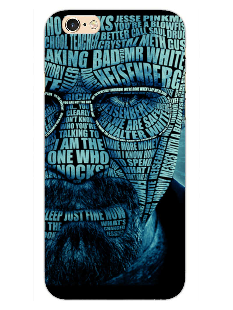 Heisenberg Typography iPhone 6 Plus Mobile Cover Case