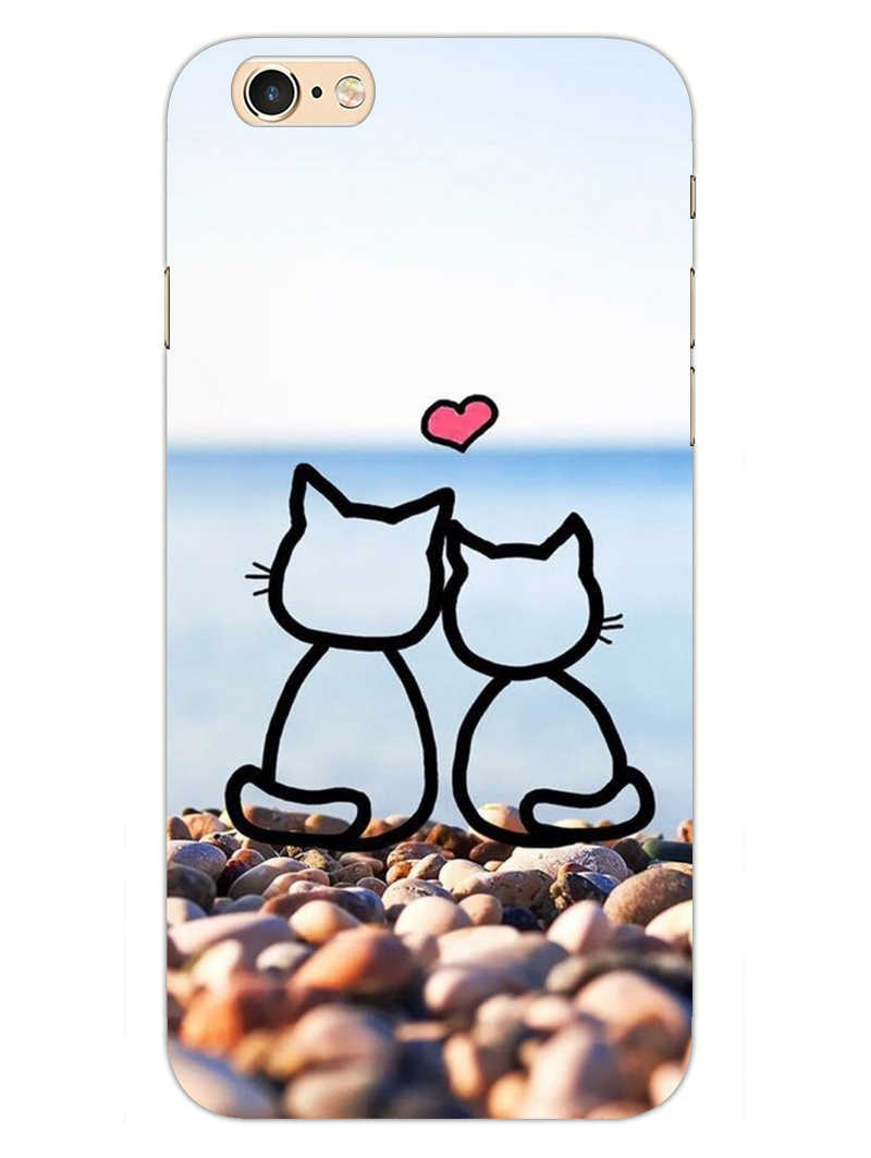 Cat Couple iPhone 6 Plus Mobile Cover Case