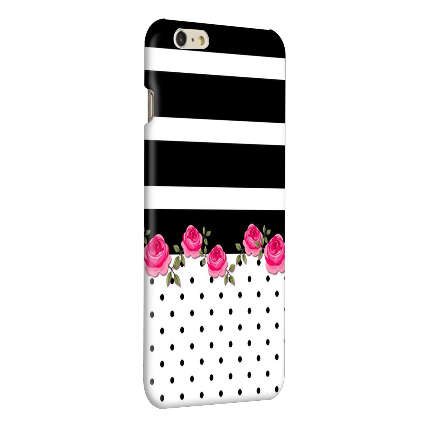Rose Polka Stripes iPhone 6 Plus Mobile Cover Case - MADANYU