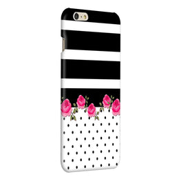 Rose Polka Stripes iPhone 6 Plus Mobile Cover Case