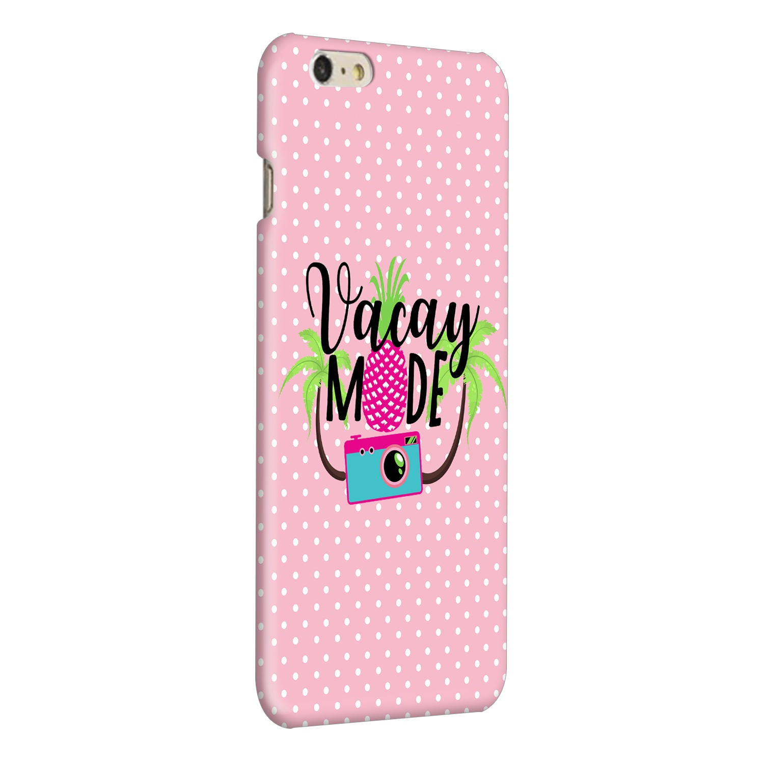 Vacay Mode With Cute White Dots Typography iPhone 6 Plus Mobile Cover Case - MADANYU