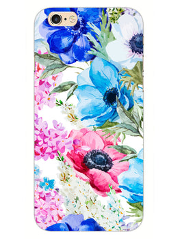 Hand Painted Floral iPhone 6S Plus Mobile Cover Case