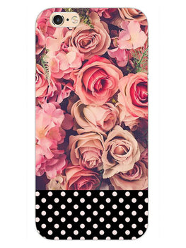 Polka Peach Rose iPhone 6S Plus Mobile Cover Case