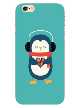 Cute Penguin Fall In Love iPhone 6S Plus Mobile Cover Case