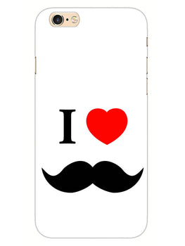 I Love Mustache Style iPhone 6S Plus Mobile Cover Case