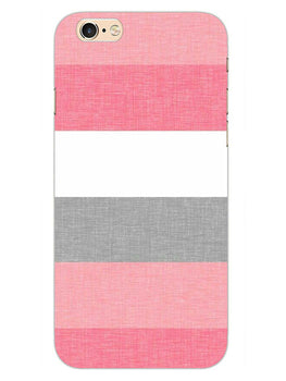 Pink White Stripes iPhone 6S Plus Mobile Cover Case