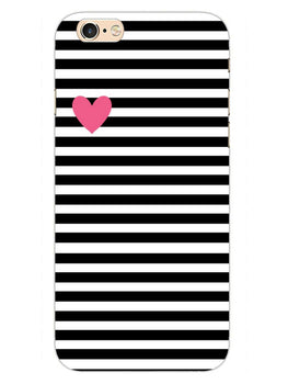 Heart In Stripes iPhone 6S Plus Mobile Cover Case