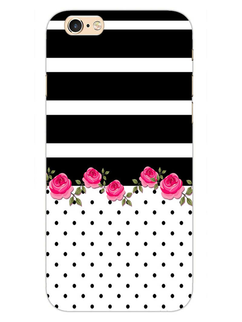 Rose Polka Stripes iPhone 6S Plus Mobile Cover Case - MADANYU