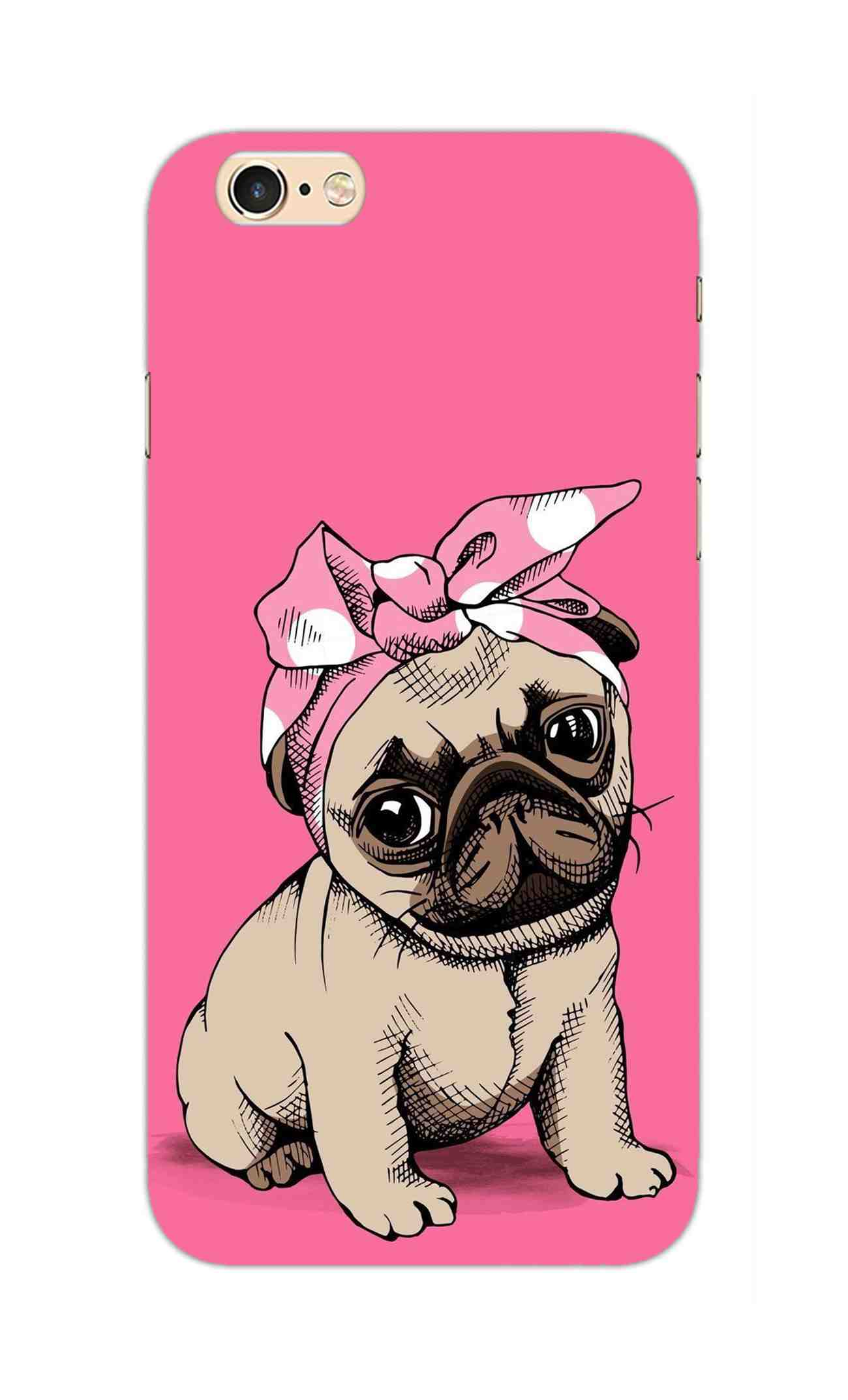 reputable site 6c61a 712ac Princess Pug Dog Lovers So Girly iPhone 6S Plus Mobile Cover Case