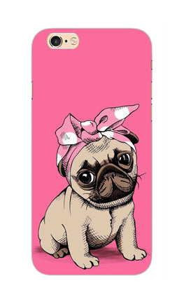 Princess Pug Dog Lovers So Girly iPhone 6S Plus Mobile Cover Case