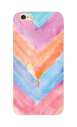 WaterColor Chevron Pattern iPhone 6S Plus Mobile Cover Case