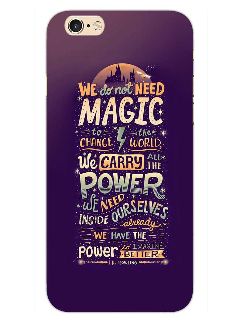 Harry Potter Quote iPhone 6S Mobile Cover Case - MADANYU