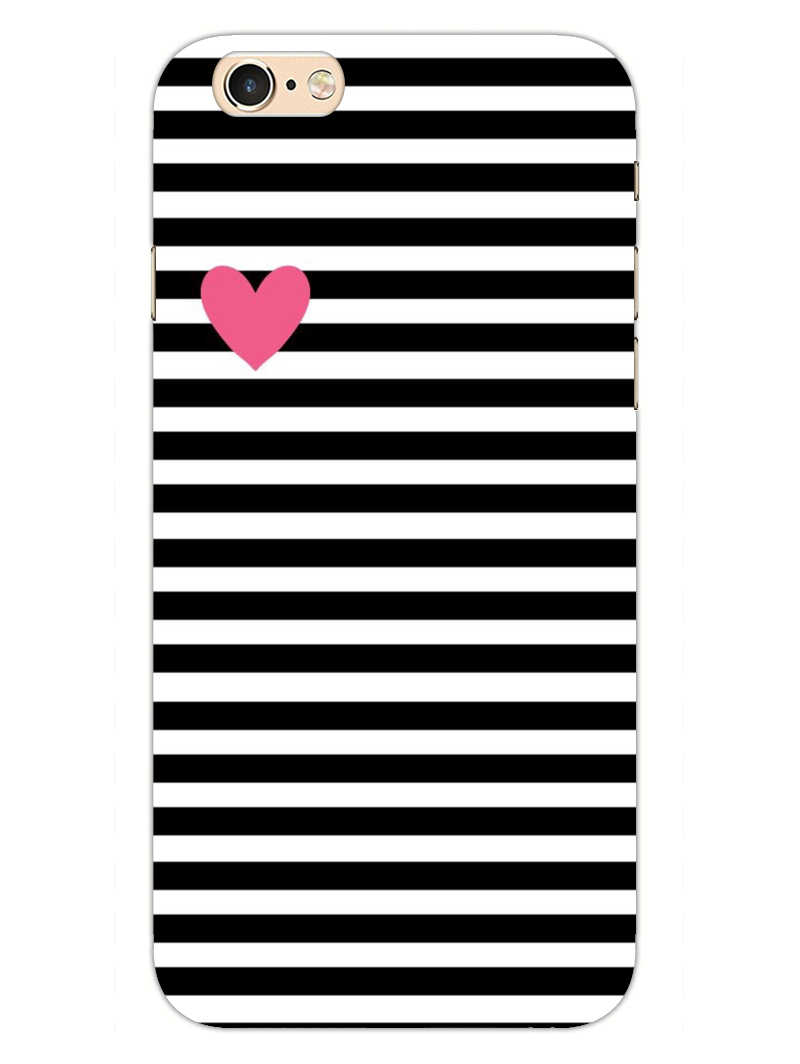 Heart In Stripes iPhone 6S Mobile Cover Case