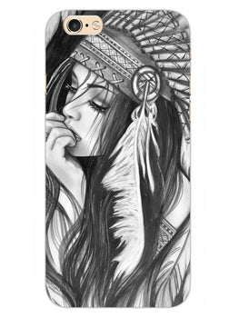 Triabal Girl Sketch iPhone 6S Mobile Cover Case