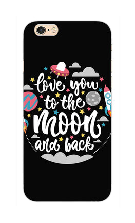 Love You Moon Space Surfing Lovers iPhone 6S Mobile Cover Case