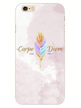 Carpe Diem Good Vibes Colorful Feather iPhone 6 Mobile Cover Case