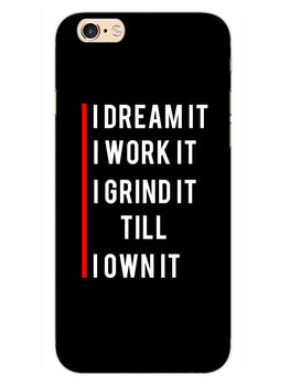 Morning Motivation iPhone 6 Mobile Cover Case