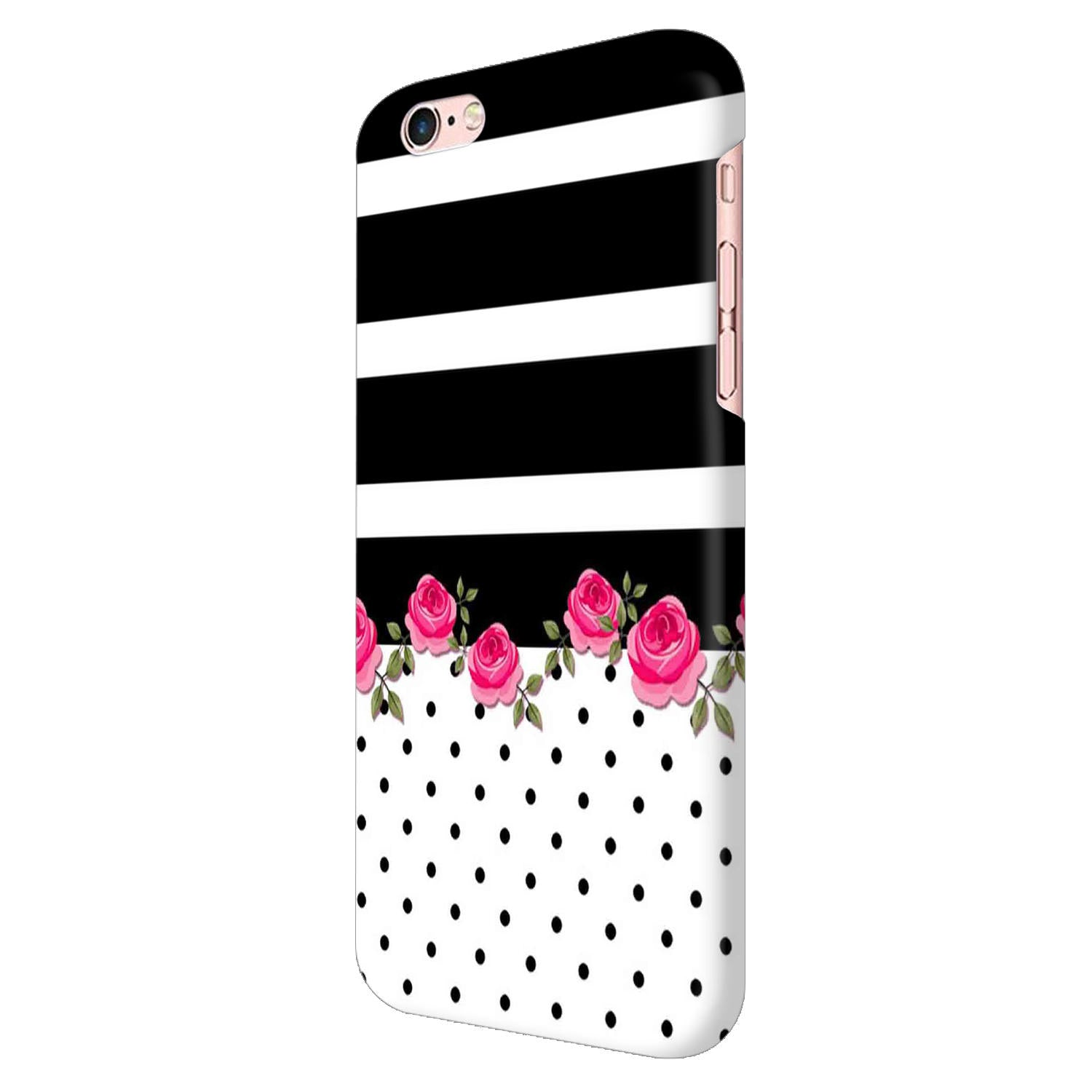 Rose Polka Stripes iPhone 6 Mobile Cover Case - MADANYU