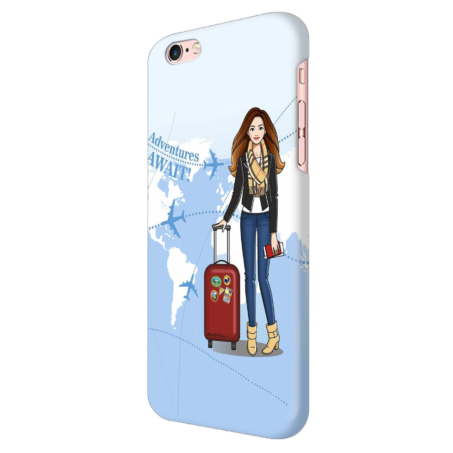 Girl Travel Adventure Await iPhone 6 Mobile Cover Case - MADANYU