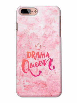 Pink Drama Queen Girly Quote iPhone 8 Plus Mobile Cover Case