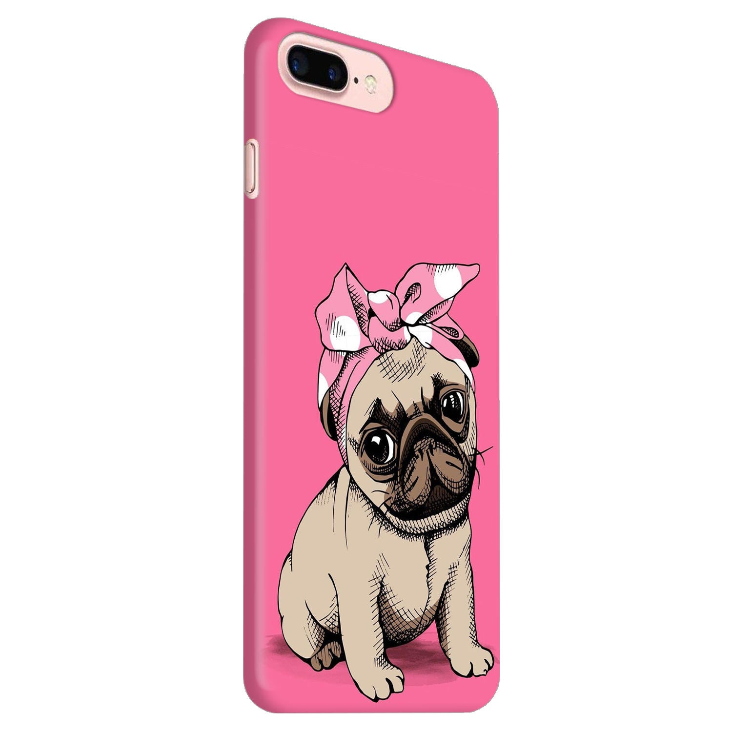 newest collection 6817e 0ba60 Princess Pug Dog Lovers So Girly iPhone 8 Plus Mobile Cover Case