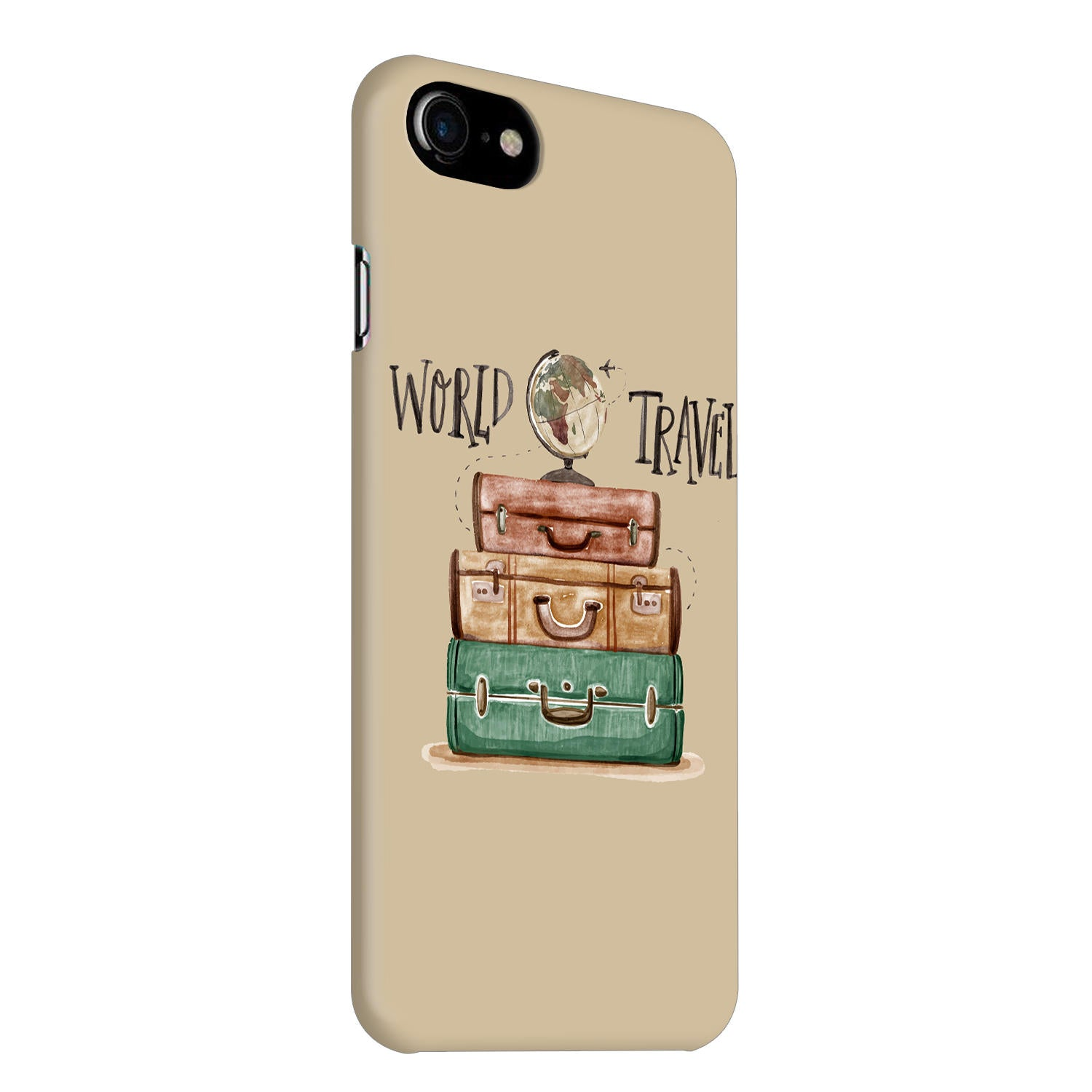 Travel World With Bags For Travellers iPhone 8 Mobile Cover Case - MADANYU