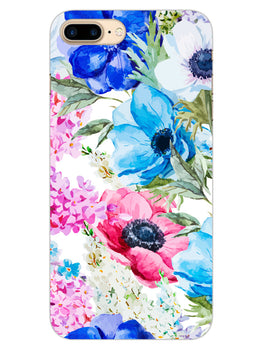 Hand Painted Floral iPhone 8 Plus Mobile Cover Case