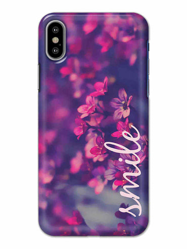 Floral Smile iPhone X Mobile Cover Case - MADANYU