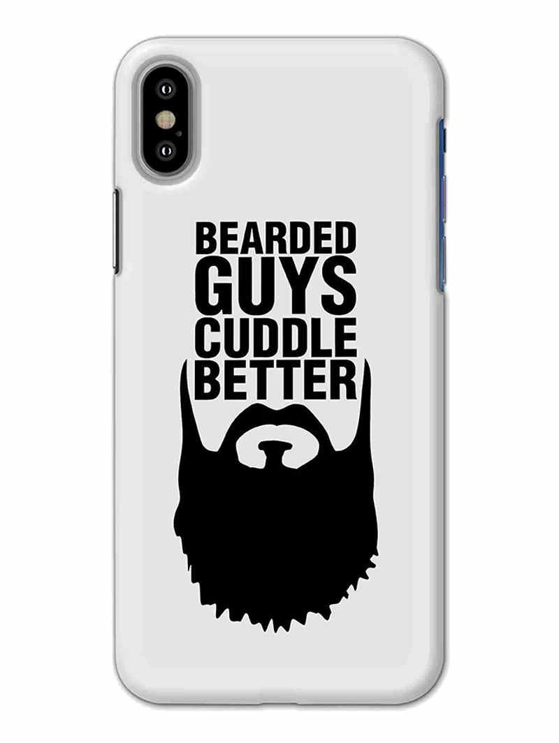 Beard Cuddle iPhone X Mobile Cover Case - MADANYU