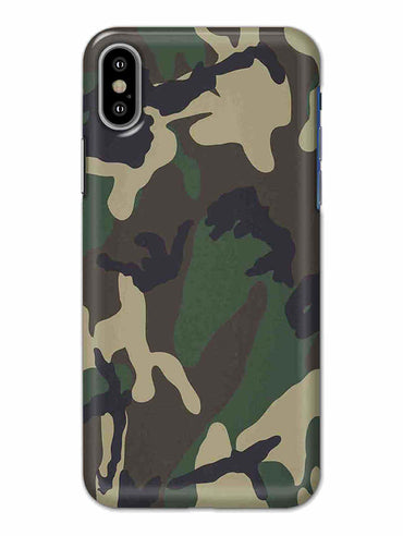 Camouflage iPhone X Mobile Cover Case - MADANYU
