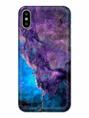 Blue Galaxy iPhone X Mobile Cover Case - MADANYU