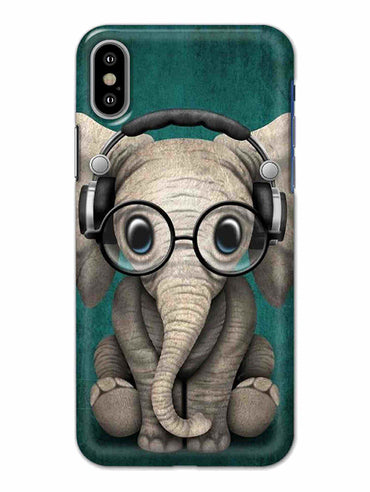 Cute Elephant iPhone X Mobile Cover Case - MADANYU