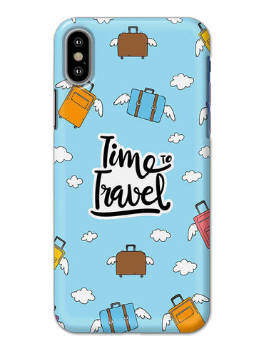 Time To Travel iPhone X Mobile Cover Case - MADANYU