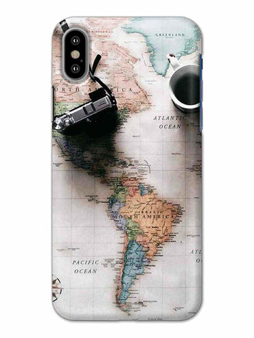 Wanderer's Map iPhone X Mobile Cover Case - MADANYU